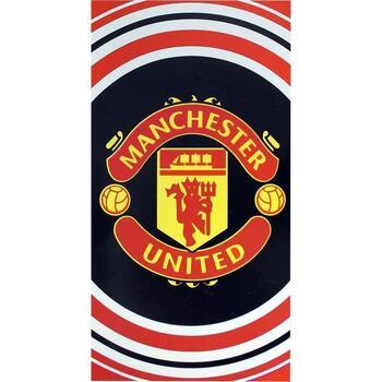 Indretning Håndklæde og badehandske Manchester United Fc TA1039 Black/Red/White