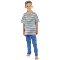 textil Dreng Pyjamas / Natskjorte Tom Franks  Navy
