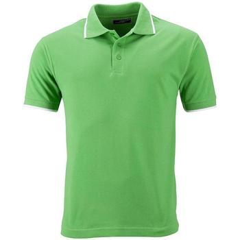 textil Dame Polo-t-shirts m. korte ærmer James And Nicholson  Lime Green/White