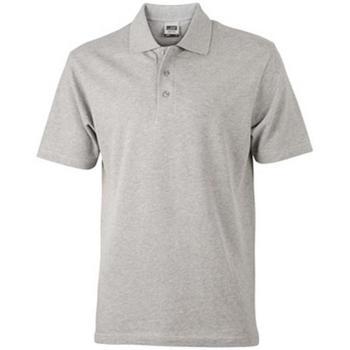 textil Dame Polo-t-shirts m. korte ærmer James And Nicholson  Grey Heather