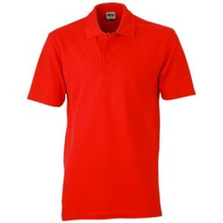 textil Dame Polo-t-shirts m. korte ærmer James And Nicholson  Red