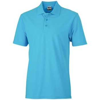 textil Dame Polo-t-shirts m. korte ærmer James And Nicholson  Turquoise