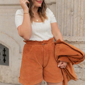 textil Dame Shorts Céleste CHENE Rustrød
