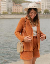 textil Dame Jakker / Blazere Céleste SASSAFRAS Kamel