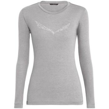 Langærmede T-shirts Salewa  Solidlogo Dry W