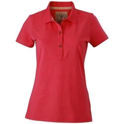 textil Dame Polo-t-shirts m. korte ærmer James And Nicholson  Pink