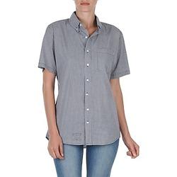 textil Dame Skjorter m. korte ærmer American Apparel RSACP401S Hvid / Blå