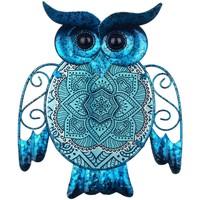 Indretning Små statuer og figurer Signes Grimalt Ugle Figur Azul