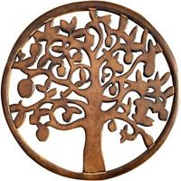 Indretning Malerier og lærreder Signes Grimalt Træ Væg Ornament Marrón