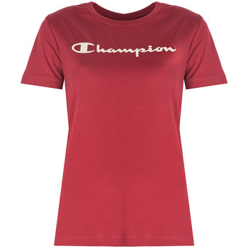 textil Dame T-shirts m. korte ærmer Champion  Rød
