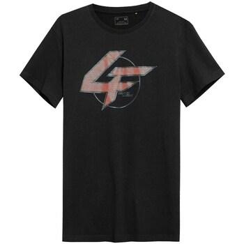 textil Herre T-shirts m. korte ærmer 4F TSM022 Sort