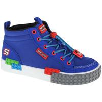 Sko Dreng Høje sneakers Skechers Kool Bricks Blå