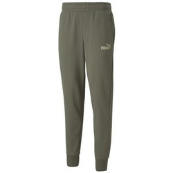 textil Herre Træningsbukser Puma Ess Logo Pants FL CL Grøn