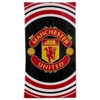 Indretning Håndklæde og badehandske Manchester United Fc BS1347 Black/Red/White