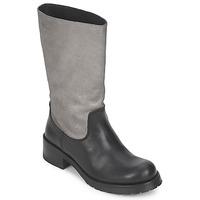 Sko Dame Chikke støvler Pastelle PETULA Sølv / sort