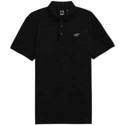textil Herre Polo-t-shirts m. korte ærmer 4F TSM356 Sort