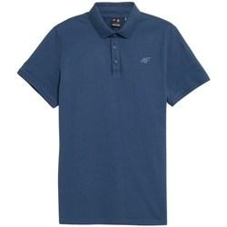 textil Herre Polo-t-shirts m. korte ærmer 4F TSM355 Blå