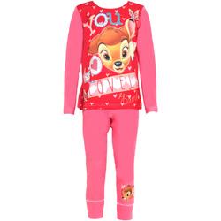 textil Pige Pyjamas / Natskjorte Disney  Pink/Red