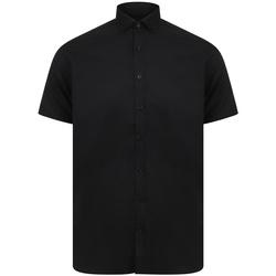 textil Herre Skjorter m. korte ærmer Henbury H517S Black