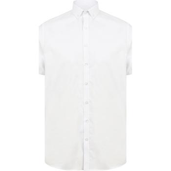 textil Herre Skjorter m. korte ærmer Henbury H517S White