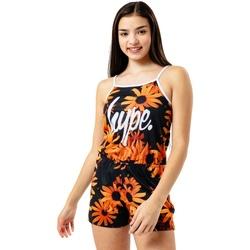 textil Pige Buksedragter / Overalls Hype  Black/Orange