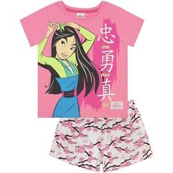 textil Pige Pyjamas / Natskjorte Mulan  Pink/Grey