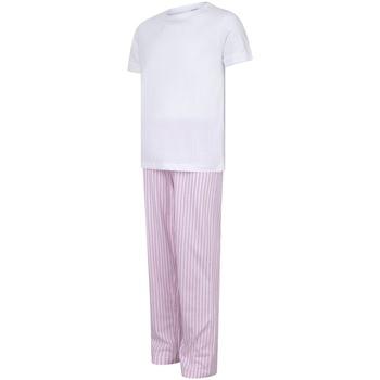 textil Pige Pyjamas / Natskjorte Towel City TC59 White/Pink