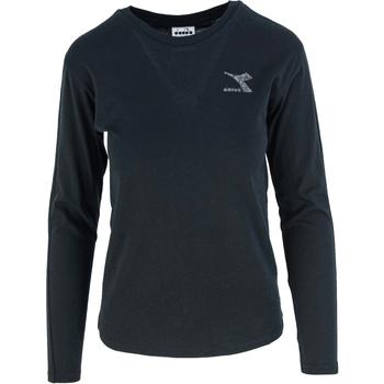 textil Dame Langærmede T-shirts Diadora Ls Blink Sort