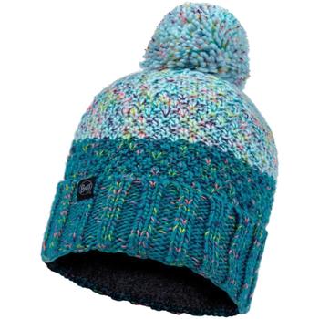 Accessories Dame Huer Buff Janna Knitted Fleece Hat Beanie Blå