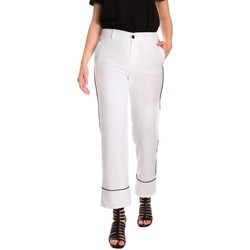 textil Dame Chinos / Gulerodsbukser Denny Rose 811DD20006 hvid