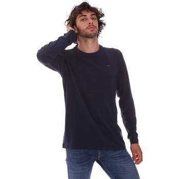 textil Herre Langærmede T-shirts Key Up 2E96B 0001 Blå