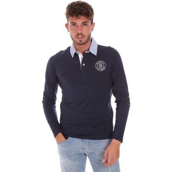 textil Herre Polo-t-shirts m. lange ærmer Key Up 2G88R 0001 Blå