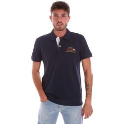 textil Herre Polo-t-shirts m. korte ærmer Key Up 2G96Q 0001 Blå