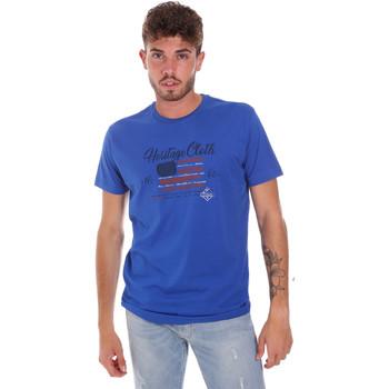 textil Herre T-shirts m. korte ærmer Key Up 2G83S 0001 Blå