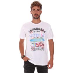 textil Herre T-shirts m. korte ærmer Key Up 2D45S 0001 hvid