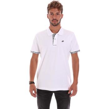 textil Herre Polo-t-shirts m. korte ærmer Key Up 2R53G 0001 hvid