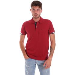 textil Herre Polo-t-shirts m. korte ærmer Key Up 2R56G 0001 Rød