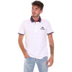 textil Herre Polo-t-shirts m. korte ærmer Key Up 2Q60G 0001 hvid