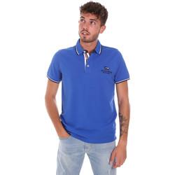 textil Herre Polo-t-shirts m. korte ærmer Key Up 2Q60G 0001 Blå