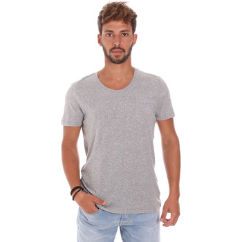 textil Herre T-shirts m. korte ærmer Antony Morato MMKS01003 FA100092 Grå