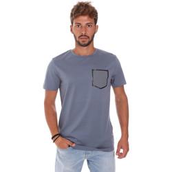 textil Herre T-shirts m. korte ærmer Antony Morato MMKS01025 FA100084 Blå