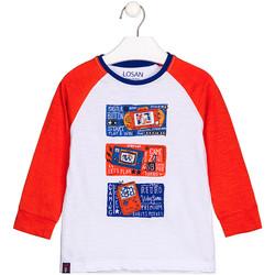 textil Børn Langærmede T-shirts Losan 125-1015AL hvid