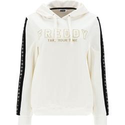 textil Dame Sweatshirts Freddy F1WCLS4 hvid