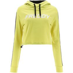 textil Dame Sweatshirts Freddy F1WFTS3 Gul