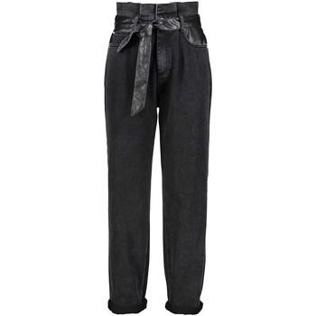 textil Dame Jeans - boyfriend Gaudi 121BD26037 Sort