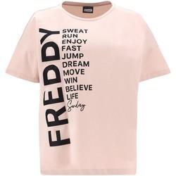 textil Dame T-shirts m. korte ærmer Freddy F1WSDT1 Lyserød