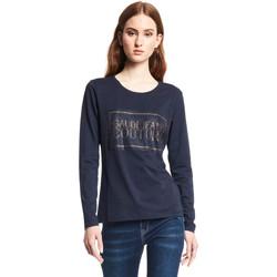 textil Dame Langærmede T-shirts Gaudi 121BD64059 Blå