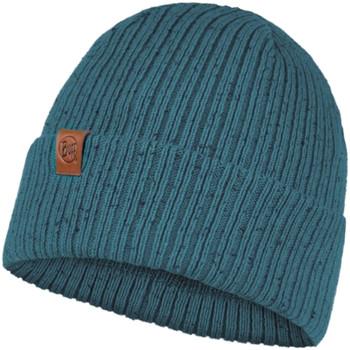 Accessories Dame Huer Buff Kort Knitted Hat Beanie Blå
