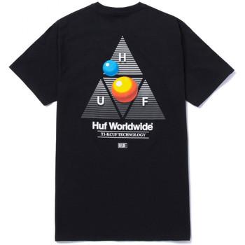 textil Herre T-shirts m. korte ærmer Huf T-shirt video format tt ss Sort