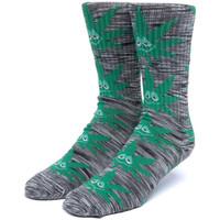 Accessories Herre Strømper Huf Socks tiedye green buddy pl Sort